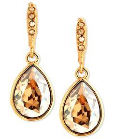 Givenchy Earrings, Gold-Tone Golden Shadow Swarovski Element Drop Earrings