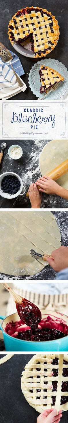An American classic - blueberry lattice pie. Love!