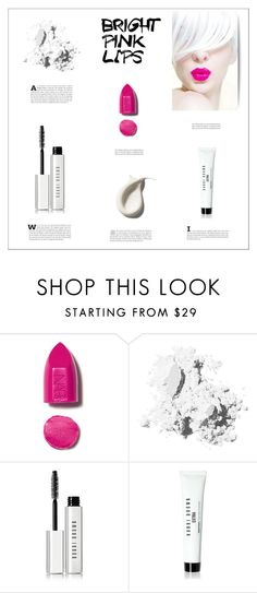 """Bright Pink Lipstick"" by vecastancic ❤ liked on Polyvore featuring beauty, NARS Cosmetics, Charlotte Olympia and Bobbi Brown Cosmetics"