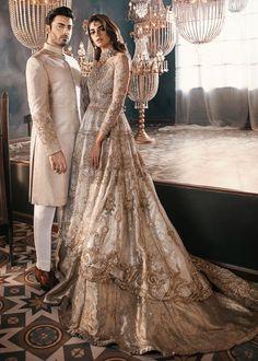 Sanam saeed and fawad khan for sfkbridals Sadaf Fawad Khan Studio Asian Bridal Dresses, Pakistani Wedding Outfits, Indian Bridal Outfits, Pakistani Bridal Dresses, Pakistani Wedding Dresses, Indian Dresses, Walima Dress, Bollywood Wedding, Indian Bridal Fashion