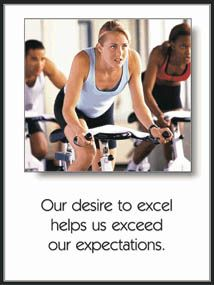 Spin Class Desire Motivational Gym Poster - Fitnus Corp.