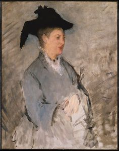 Manet undertook only six portraits of his wife, the Dutch pianist Suzanne Leenhoff, in the years after their marriage in 1863. Half were left unfinished, including the present work, providing rare insight into the artist's technique