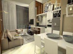 Living do Unik 114 - apartamento com pé direito duplo e cheio de personalidade! #unik114 #linha7 #interiordesign #arquitetura #investcorp #joinville