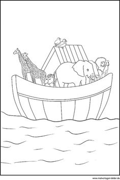 Free printable Noah's Ark, Bible coloring pages | Kids ...