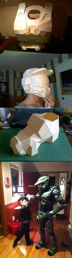 Pepakura Halo Armor. One day I'll have the patience to finish my own.... One day...