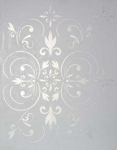 Damask 'Fleur Scroll' by Interiors2Art