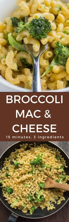 This Stovetop 15 Minute Broccoli Mac And Cheese Is Made With Just 1 Pot And Only 3 Ingredients Snat This Stovetop 15 Minute Broccoli Mac And Cheese Is Made With Just 1 Pot And Only 3 Ingredients Snat Poataomasher nbsp hellip Cheese Recipes Best Pasta Recipes, Cheese Recipes, Vegetarian Recipes, Healthy Recipes, Healthy Food, Paleo Meals, Delicious Recipes, Mac And Cheese Homemade, Macaroni And Cheese