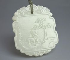 51BidLive-[Very Fine Qianlong Chinese White Jade Plaque]
