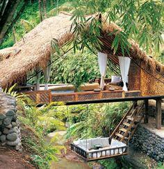 Float houses, Bali