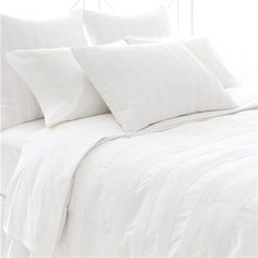 PCH Pintuck White Duvet Cover