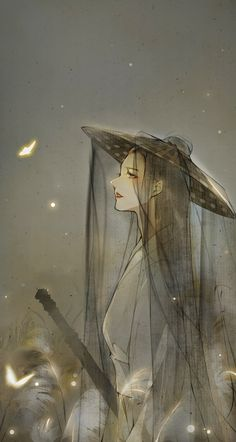 My like tachi style anime Chinese Artwork, Chinese Drawings, Art Drawings, Pixiv Fantasia, Japan Painting, Fantasy Kunst, China Art, Anime Art Girl, Pretty Art