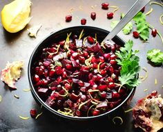 This vibrant,easy to make Pomegranate Beet Salsa Recipe is full of zest and sweetness,perfect served alongside chicken/lamb barbecue dishes.