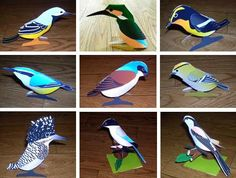Easy-To-Build Paper Birds - by Gansuke - Pássaros De Papel -         More than 30 models of paper birds, very easy-to-build, by Japanese site Gansuke.