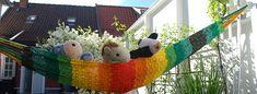 Ravelry: Hammock for children pattern by Julie Berg Hemp Yarn, Chrochet, Crochet Hooks, Hammock, Ravelry, Christmas Ornaments, Holiday Decor, Children, Pattern