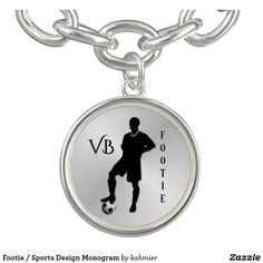 Footie / Sports Design Monogram Bracelet