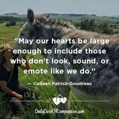 May our hearts be large enough to include those who don't look, sound, or emote like we do - Colleen Patrick-Goudreau