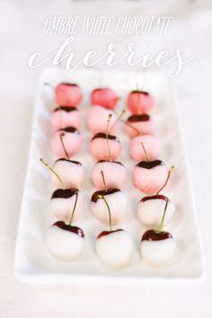 ombre white chocolate cherries