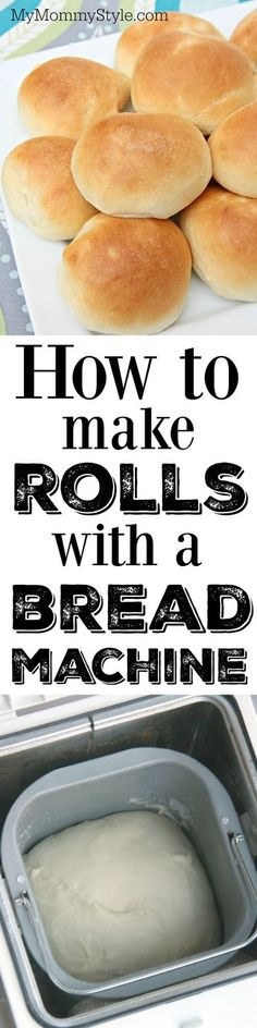 I love using my bread machine to make rolls. All I have to do is throw all the ingredients into the pan and the bread machine does all the work. No need to spend time mixing and kneading, just push the start button and go on with your day. When the cycle is through you just need to shape the rolls, let them rise and then bake. This is also the BEST dinner roll recipe!