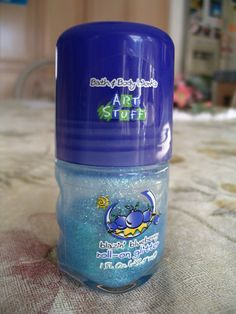 23 Throwback Beauty Products You Totally Used as a Teen - BATH & BODY WORKS ART STUFF ROLL-ON GLITTER -  Not only did Bath and Body Works Art Stuff Roll-On Glitter exist, it came in Blue Raspberry. And that's not even a real berry, guys.