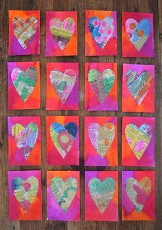 Newspaper Heart Postcards from ArtBar Blog