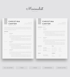 Modern Resume Template, Minimalist Resume, Creative Resume, CV Template, Teacher Resume, Clean Resum Modern Resume Template, Cv Template, Resume Templates, Microsoft Word 2007, Looking For A Job, Cover Letter Template, Creative Resume, Resume Cv, Professional Resume
