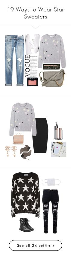 """19 Ways to Wear Star Sweaters"" by polyvore-editorial ❤ liked on Polyvore featuring waystowear, starsweaters, Chinti and Parker, Converse, rag & bone, NARS Cosmetics, Calvin Klein Collection, Jimmy Choo, Beyond Object and Givenchy"