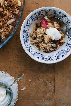 Raspberry, pear + almond crumble (gluten-free) | My Darling lemon thyme