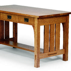 Arts and Crafts Library Table [fw]
