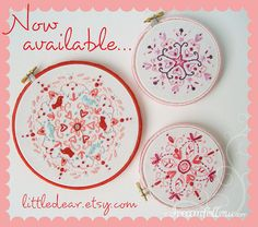 Oh I love drawing doodle designs like this.  Great idea to embroider them!