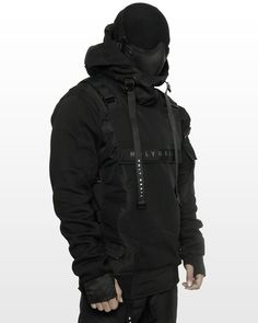Moda Cyberpunk, Cyberpunk Clothes, Cyberpunk Fashion, Tactical Wear, Tactical Clothing, Dark Fashion, Mens Fashion, Steampunk Fashion, Gothic Fashion