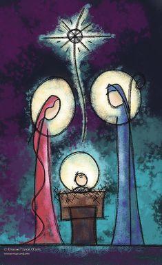 manu   Ilustración religiosa Christmas Music, Christmas Nativity, Merry Christmas, Christmas Holidays, Christmas Decorations, Christmas Printables, Christmas Projects, Vintage Christmas Cards, Christmas Pictures
