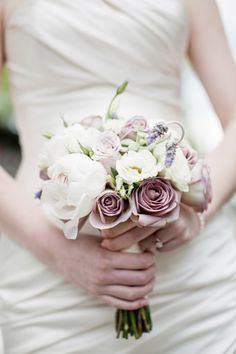 white peonies and lilac roses!!