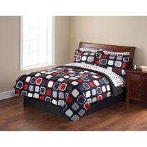 Walmart: Mainstays Evans Bed in a Bag Bedding Set : Comforter, Sheets, Pillowcase, Sham, Bedskirt : 45.00