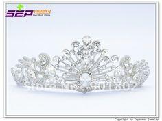 Seperwar Free Shipping Rhinestone Crystals Clear Flower Tiara Crown Weding Bridal SH8565 0C-in Hair Jewelry from Jewelry on Aliexpress.com