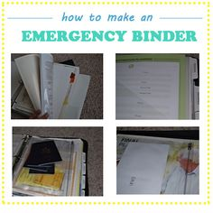 How to create an emergency binder