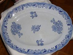 """LONGWY  Grand Plat ovale décor """"chinois"""""""