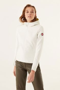 Colmar Damen Steppjacke Advanced Bianco-Firefly | SAILERstyle Trends, Designer, Hooded Jacket, Athletic, Fashion, Fashion Styles, Clothing, Jackets, Jacket With Hoodie