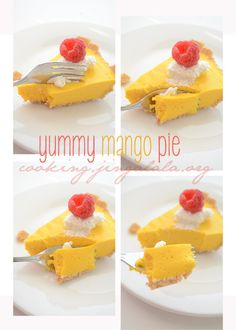 Step by step pictures guiding you to make your own mango pie - cooking.jingalala.org/2012/12/mango-pie-recipe-no-bake-ma...