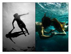 """nina + jon: underwater couple photo session"" · kailua-kona, hawaii · just a little love beneath the sea with this creative surf couple."