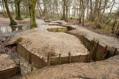 The Perfectly Preserved World War I Trench in the fields of Northern France and Belgium is a perserved field of WWI