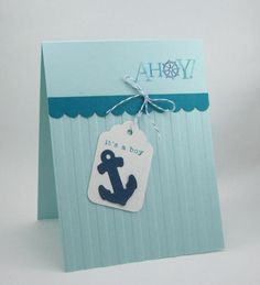 Ahoy Its a Boy  Coastal Cabana, Island Indigo, Striped EF, Look for Anchor in Open Sea stamp set.