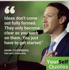 Mark Zuckerberg delivered the commencement address to the graduating class at Harvard University. Returning to his beloved campus he Vie Motivation, Study Motivation Quotes, Entrepreneur Motivation, Entrepreneur Quotes, Business Motivational Quotes, Business Quotes, Positive Quotes, Inspirational Quotes, Business Ideas