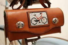 Leather Saddle Bag by Ubuntu Bikes Leather Saddle Bags, Bicycle, Accessories, Design, Bike, Bicycle Kick, Bicycles, Jewelry Accessories