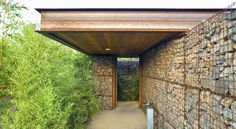 house with gabion walls - Google Search