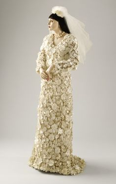 Wedding Dress by James Galanos, 1966, via  The Los Angeles County Museum of Art.