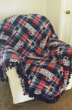 494e0eee7 NFL New England Patriots Custom Blanket - No Sew Fleece Tie Blanket    Machine Sewn Blanket   Newborn to California King Bedding