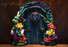 Polymer Clay Sea Sprite Door by missfinearts on DeviantArt Fairy Doors On Trees, Polymer Clay Fairy, Clay Fairies, Wishing Well, Fairy Dolls, Clay Tutorials, Clay Creations, Clay Crafts, Clay Art