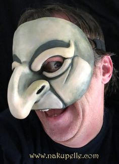 Commedia mask made by nakupelle. A more contemporary commedia mask based on the commedia character, Pulcinella or Punch. Artist: Joe Dieffenbacher.