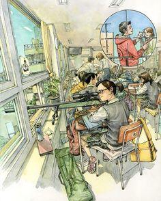 Sniper #kimjunggi #sketchbook #illustration #sketch #drawing #sniper