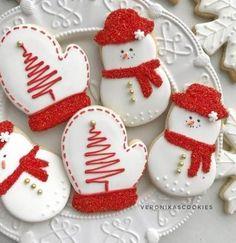 # For # CookiesSugar Cookies Sugar Decorated C . - # Cookies sugar Cookies Sugar Decorated Christmas 66 Ideas For 20 - Christmas Sugar Cookies, Christmas Sweets, Holiday Cookies, Holiday Desserts, Christmas Candy, Simple Christmas, Snowman Cookies, Christmas Ideas, Summer Cookies